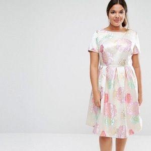 ASOS beautiful metallic rose dress UK 18 / US 14